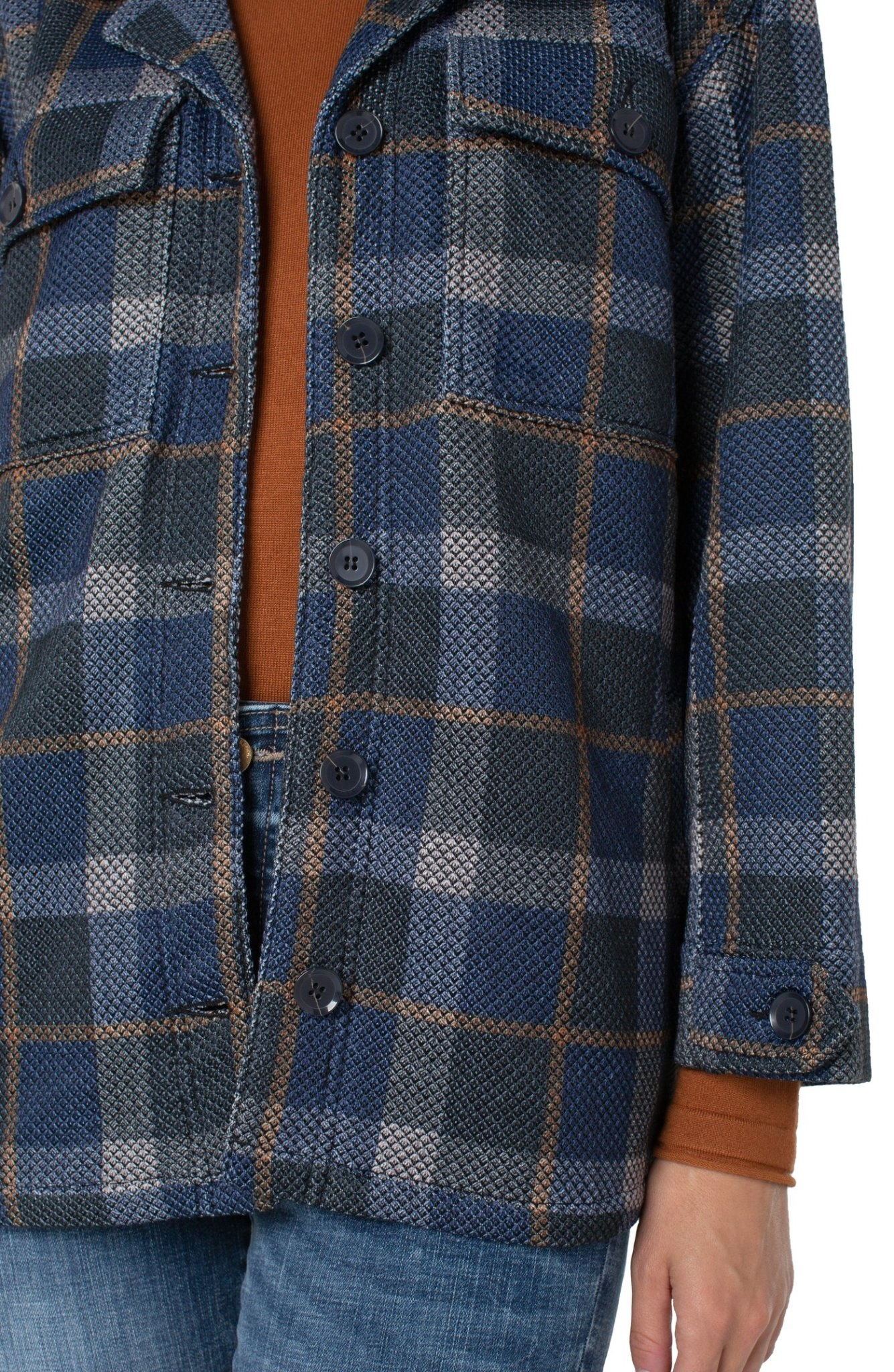 Button Front Boxy Jacket