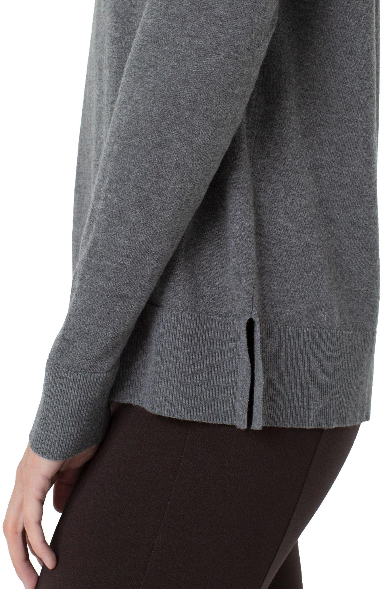 Raglan Sweater With Side Slits