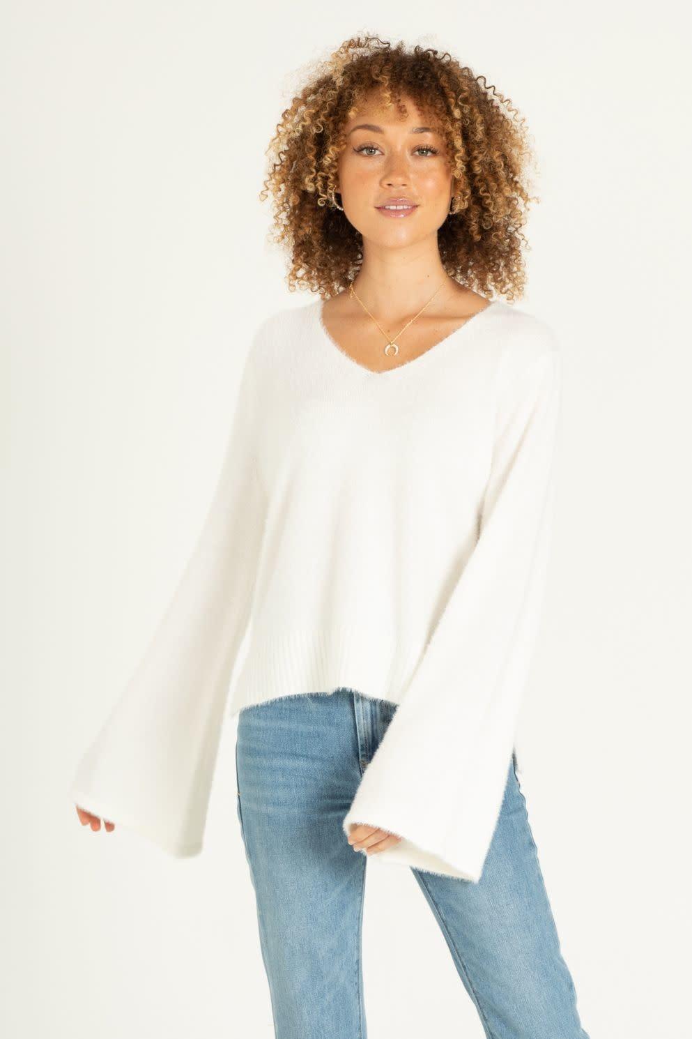 Sylvia Wide Sleeve V Neck Sweater