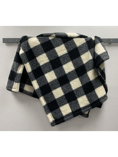 Sherpa Plaid Double-Sided Blanket