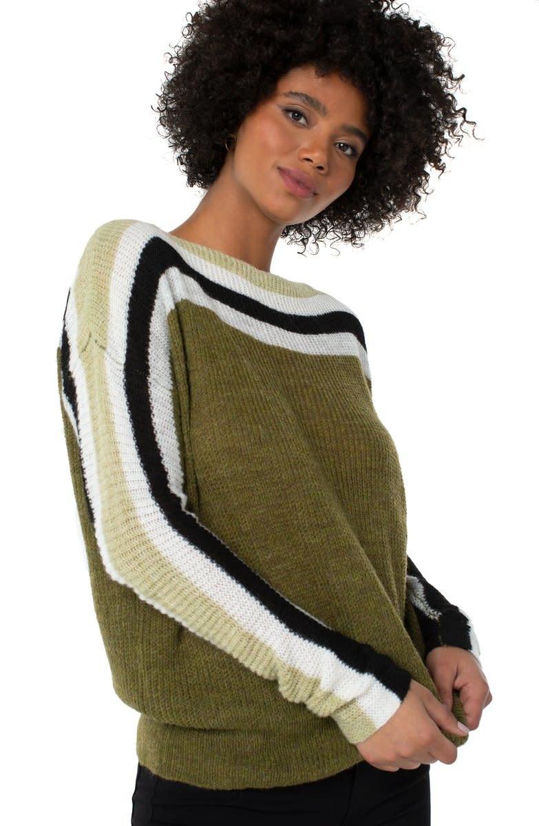 Striped Oversized Dolman Sweater