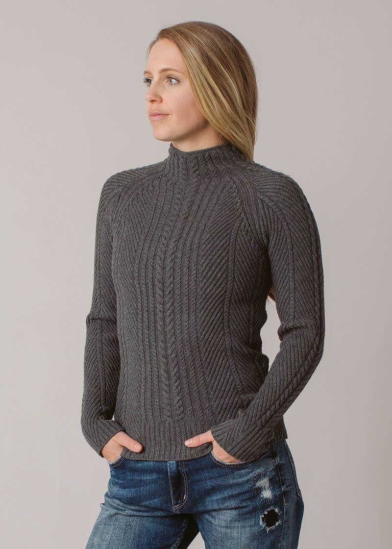Lydia Mockneck Cableknit Sweater
