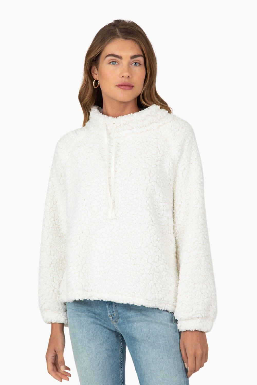 Sherpa-Pile Raglan Pullover