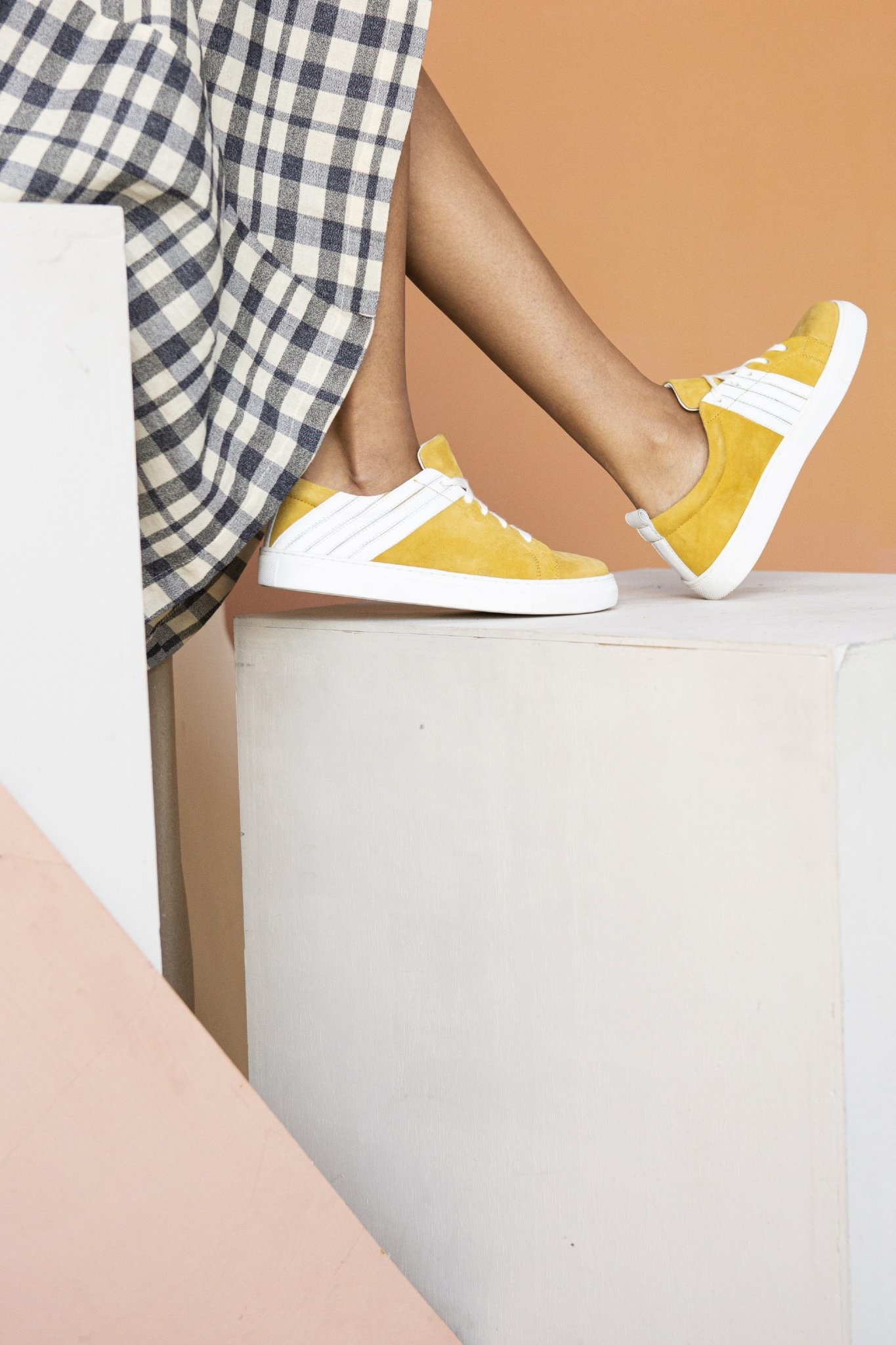 Stand Out Yellow Suede Sneaker