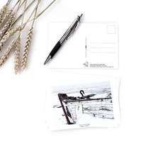 Le 1603 Carte postale - Proue de bateau- horizontal