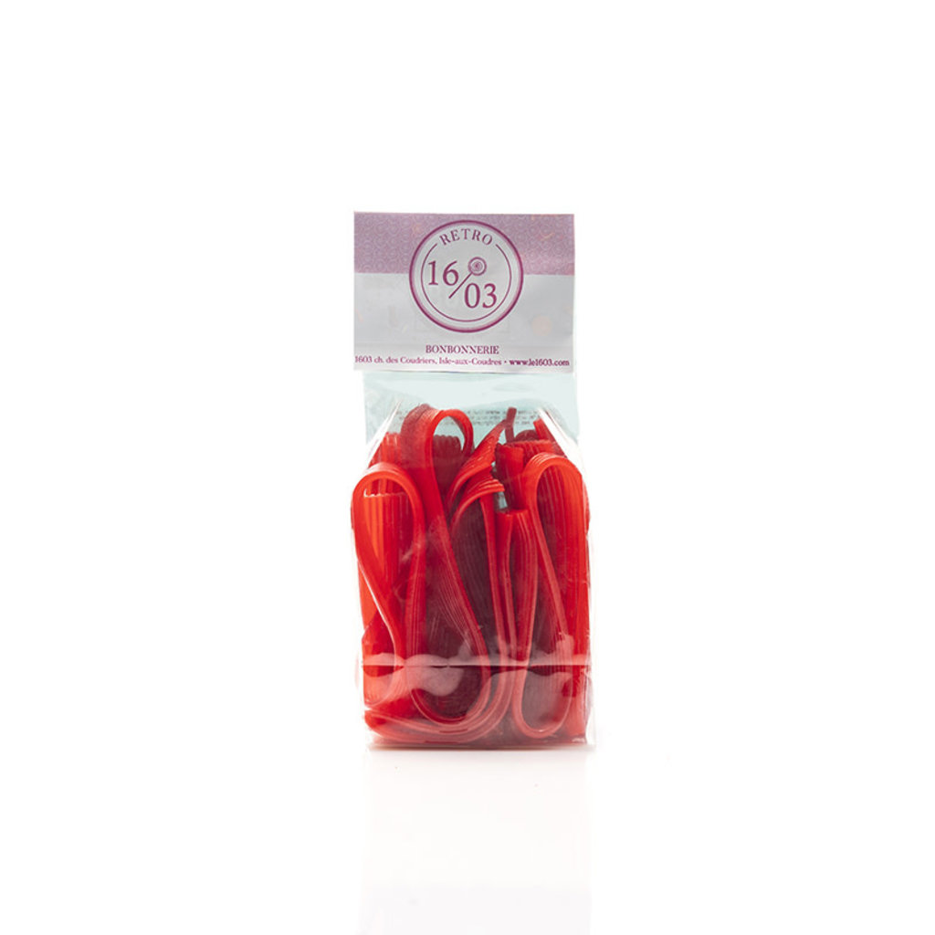 Le 1603 Cherry Licorice Ribbon 140g