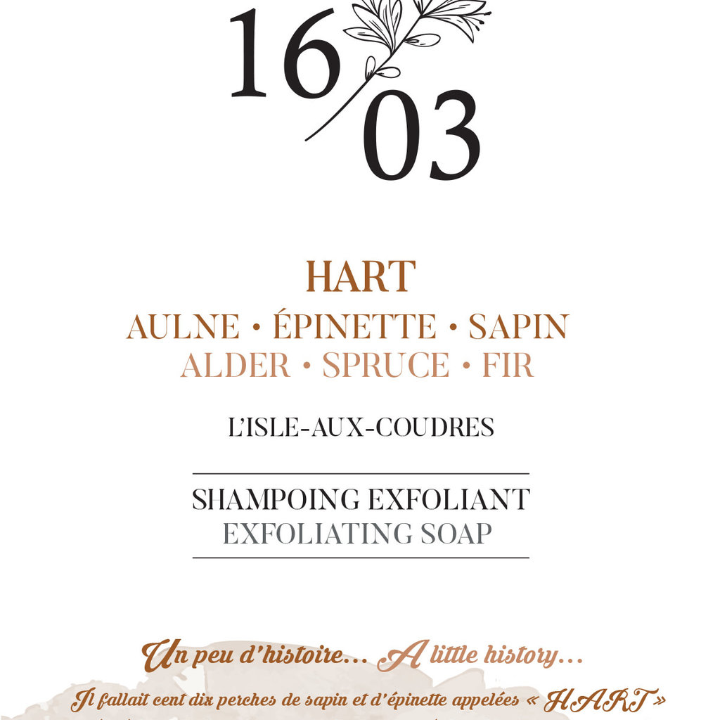 Le 1603 Exfoliating Soap HART 70g