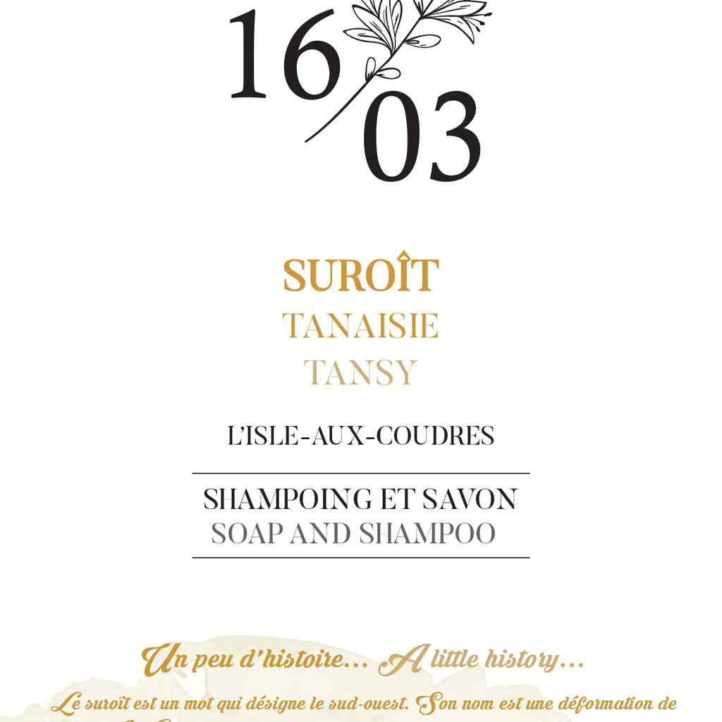 Le 1603 Savon et Shampoing SUROIT 70g
