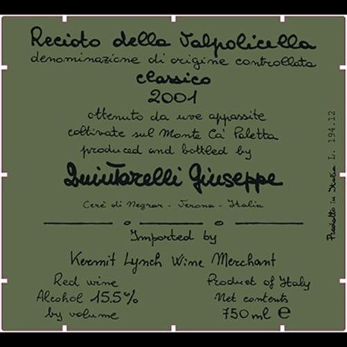 Wine GIUSEPPE QUINTARELLI RECIOTO DELLA VALPOLICELLA CLASSICO  1995 375ML