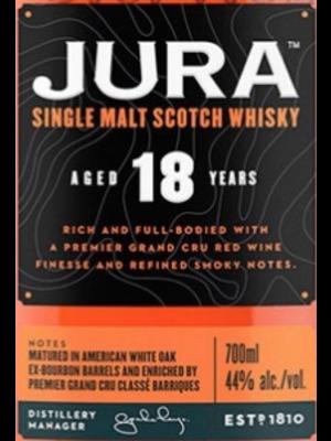 Spirits JURA SINGLE MALT SCOTCH WHISKY18YR