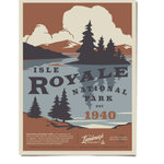 The Landmark Project The Landmark Project Isle Royale Poster 18x24