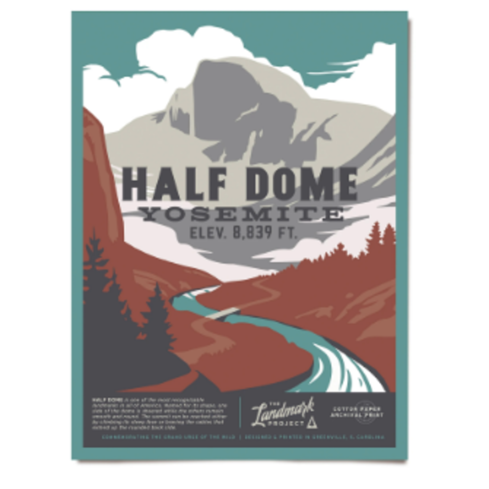 The Landmark Project The Landmark Project Half Dome Poster 18x24