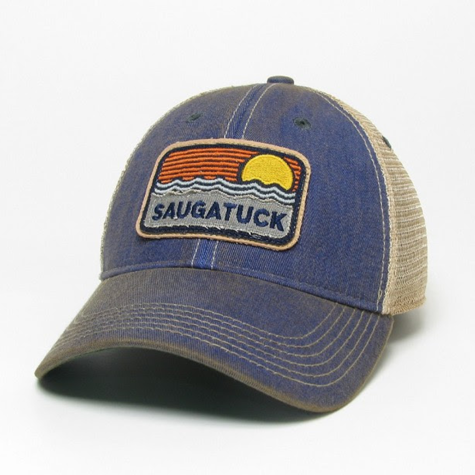 League League Legacy Saugatuck Waves & Sun Trucker, Blue