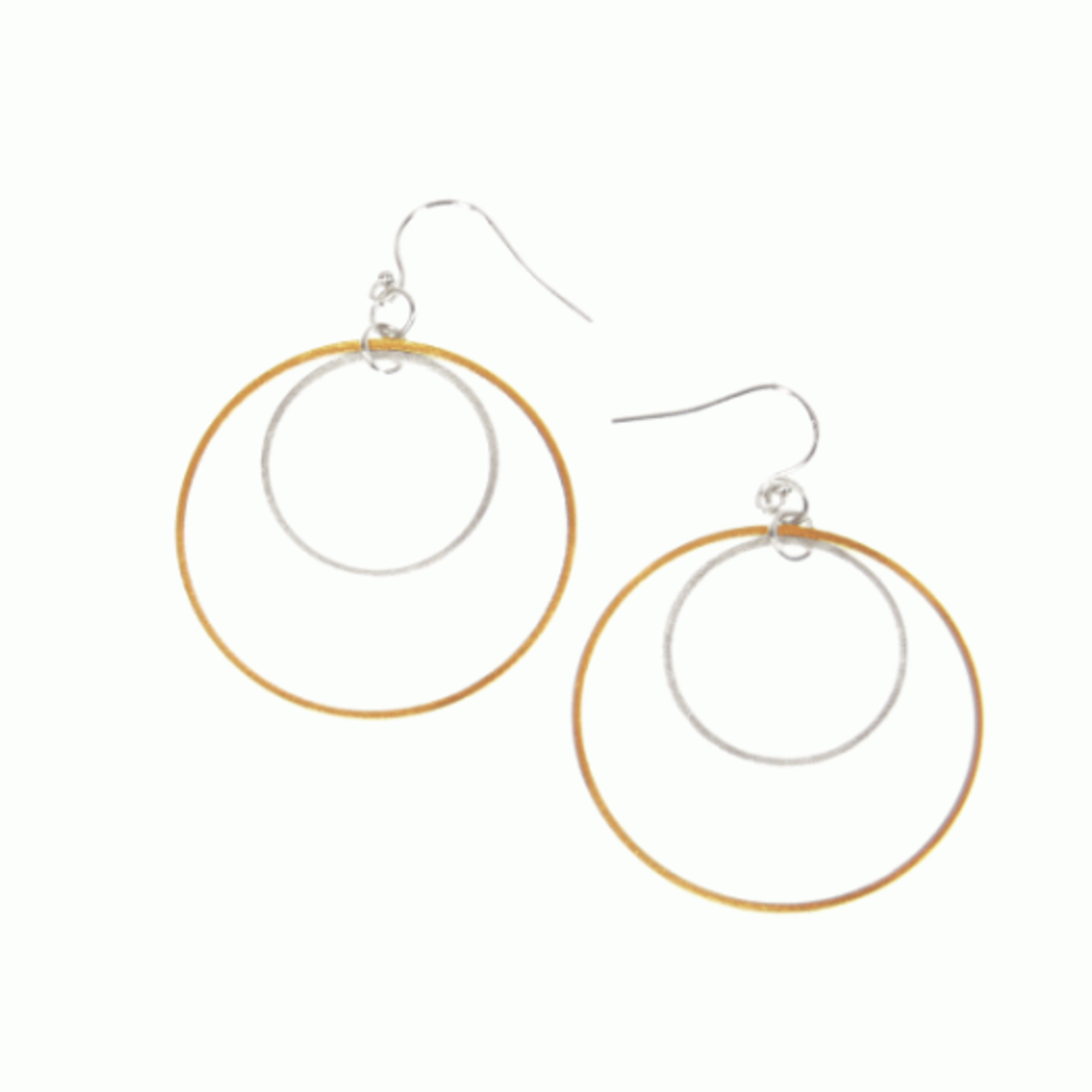 Joy Susan Joy Susan Scratched Gold Double Hoop Earring