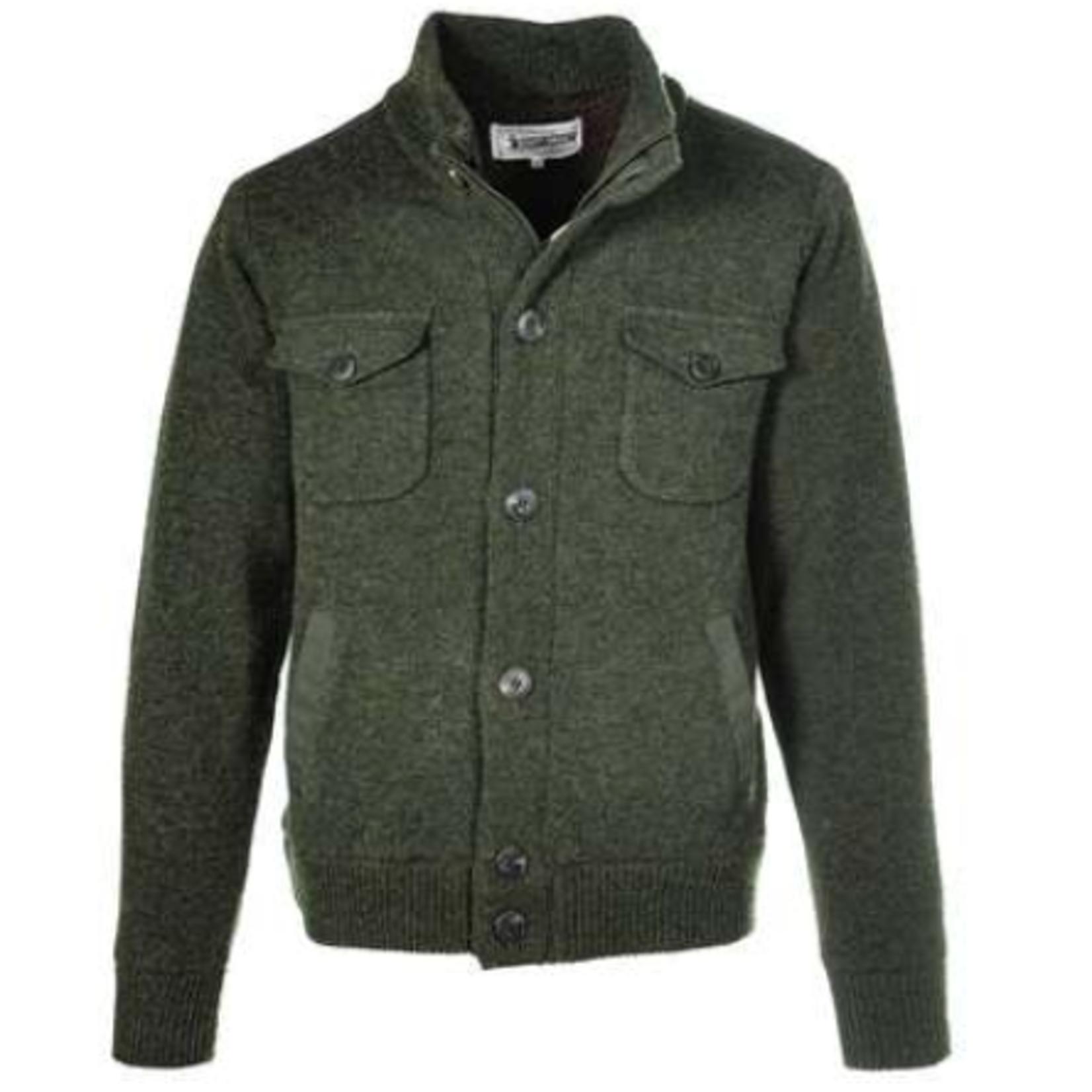 Schott Schott Wool Blend Military Sweater Jacket