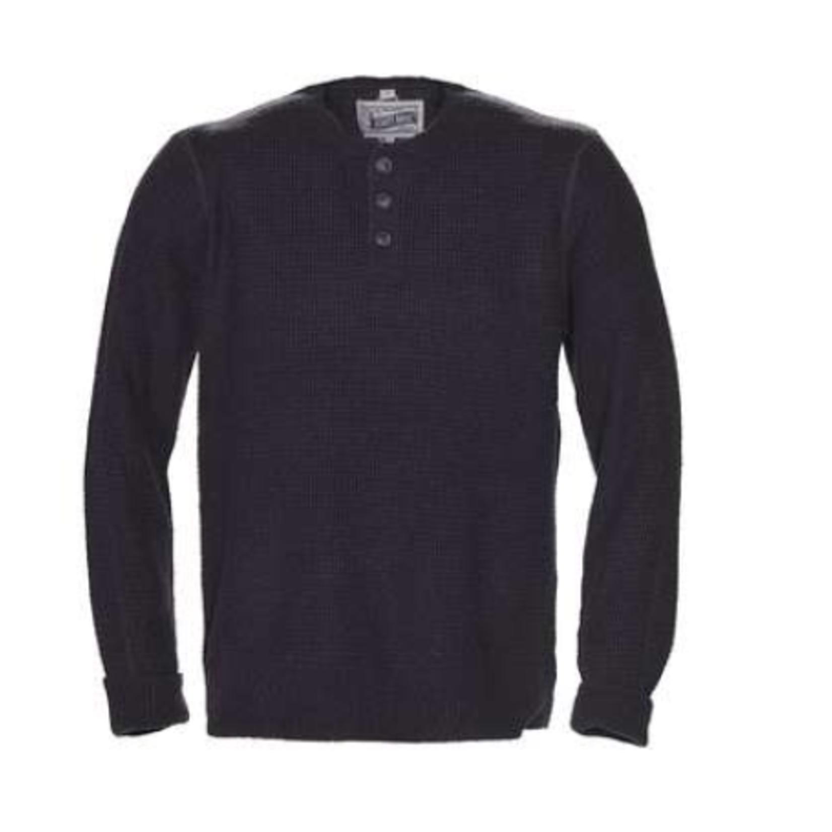 Schott Schott M's Button Henley Sweater