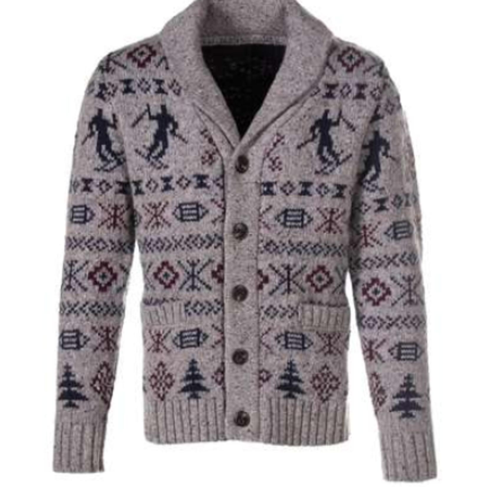 Schott Schott Wool Blend Icelandic Cardigan