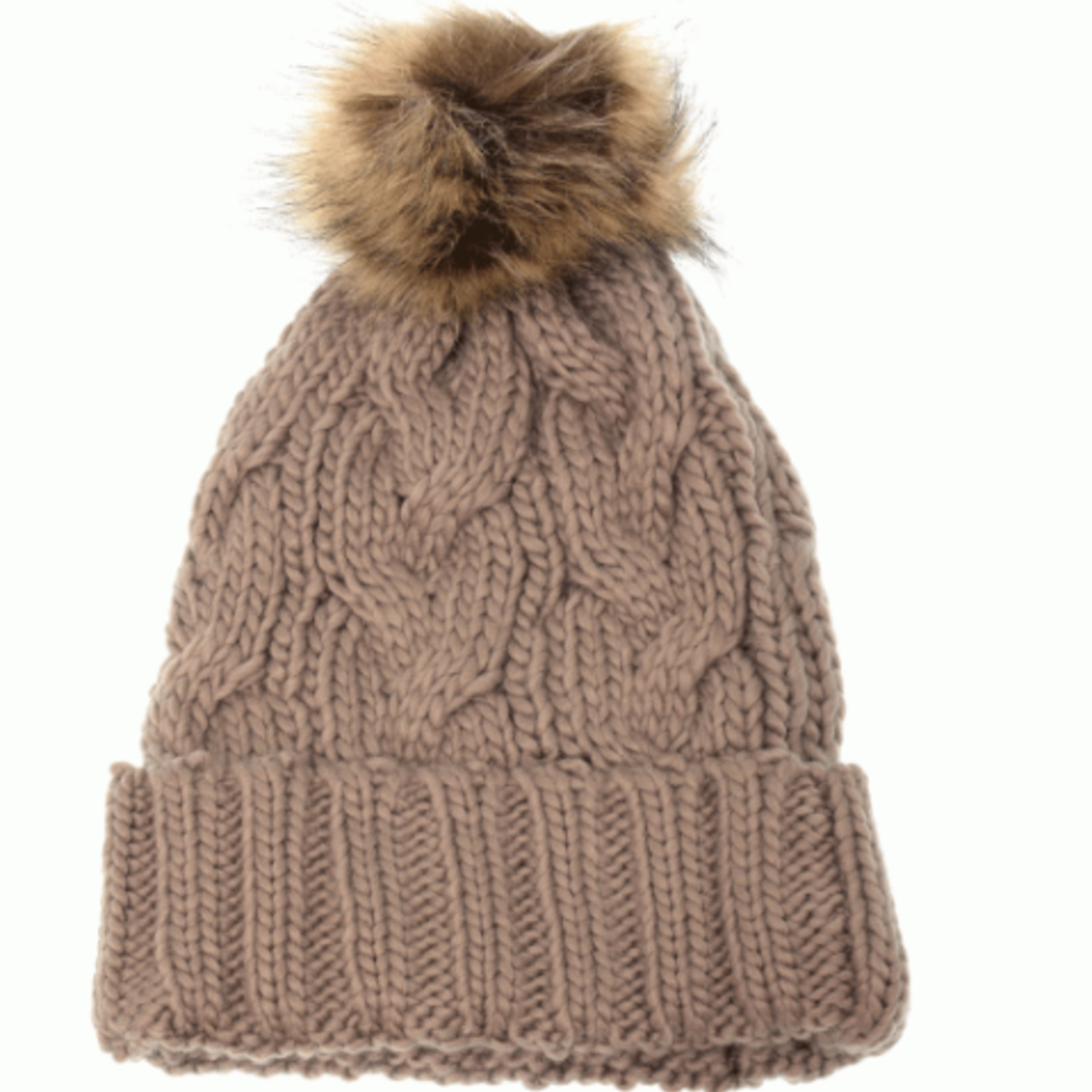 Joy Susan Joy Susan Cable Knit Pom Pom Hat - P-122443