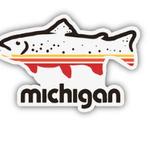 The Mitten State The Mitten State Fish Michigan Sticker