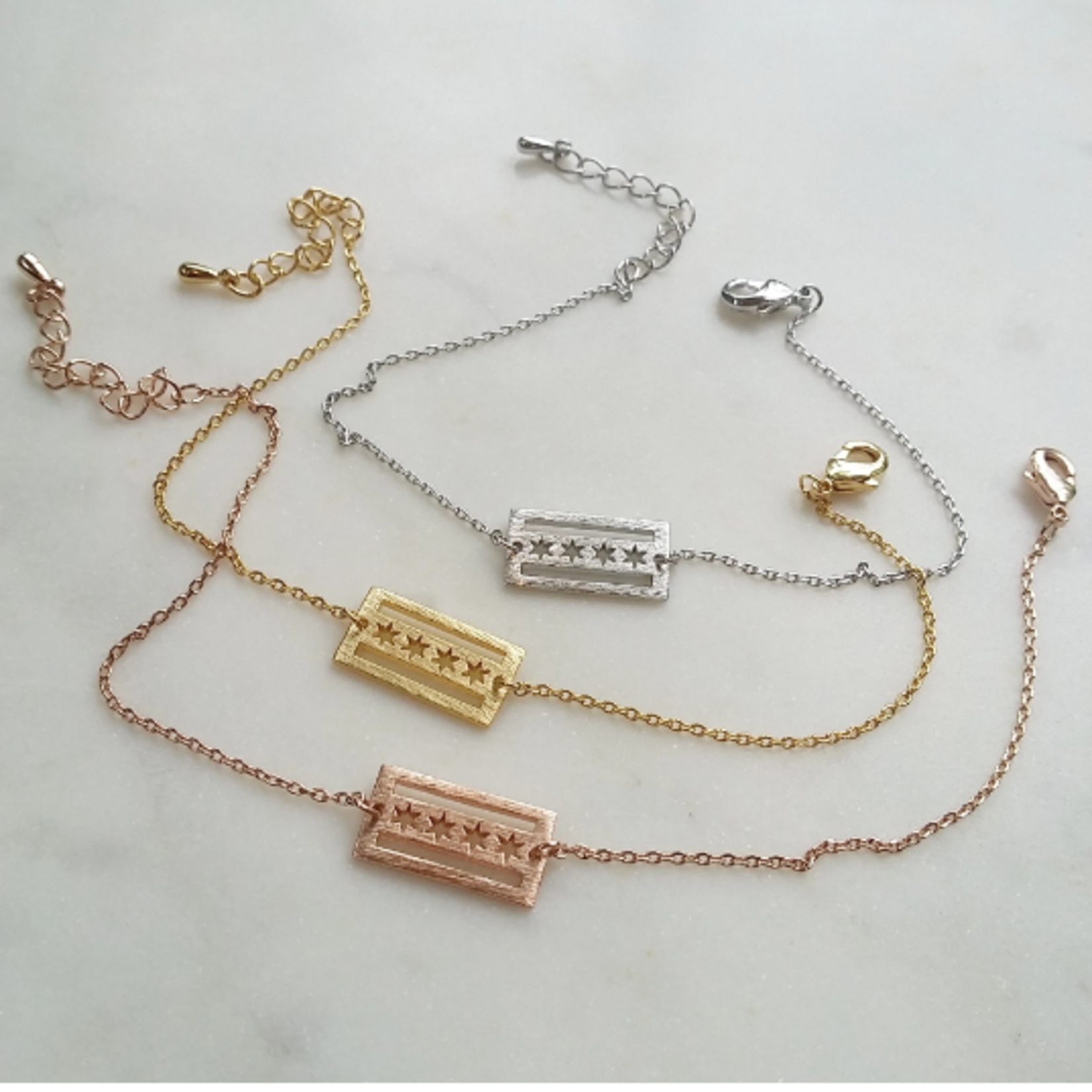 Musthavemustget Must Have Chicago Flag Necklace