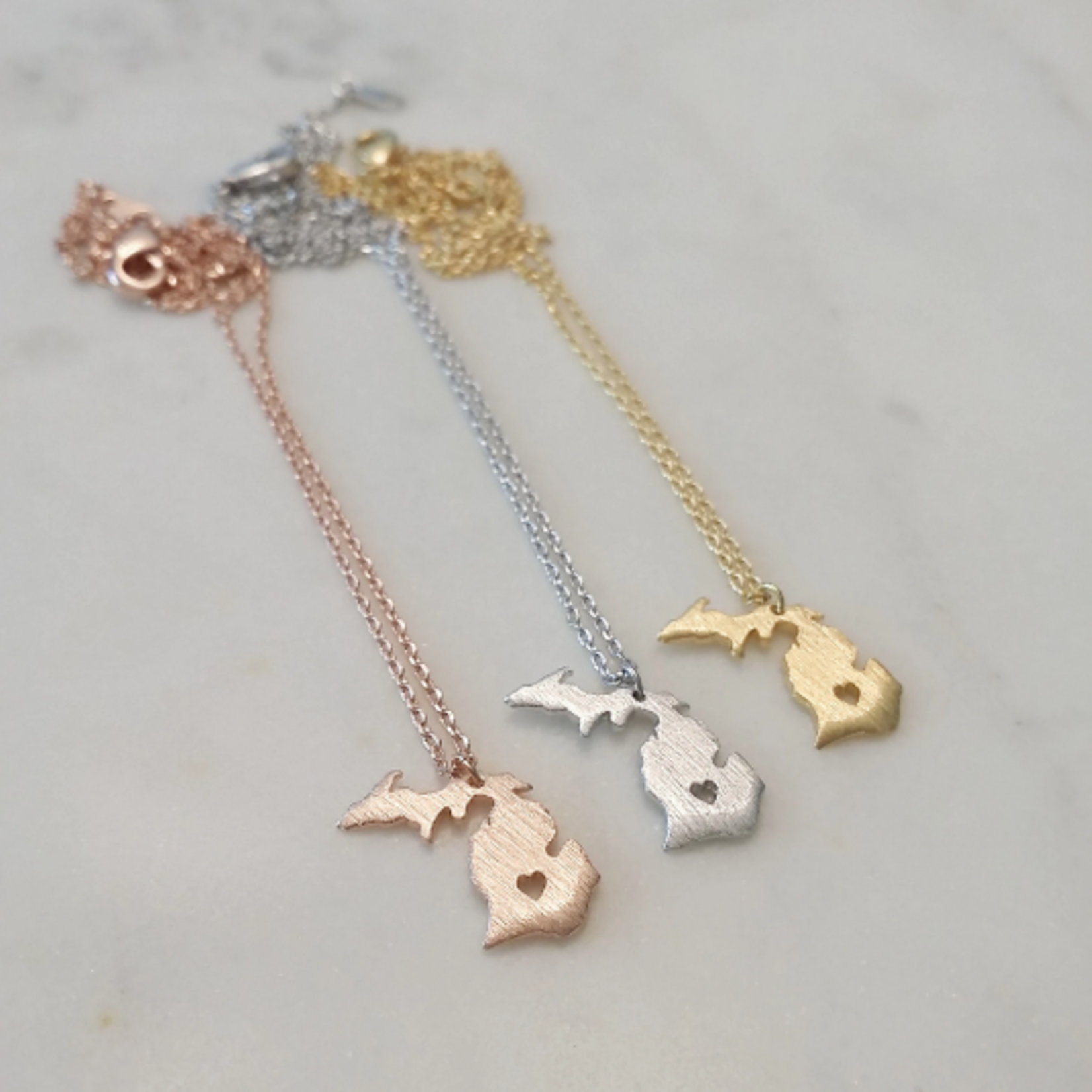 Musthavemustget Must Have Michigan Heart Necklace