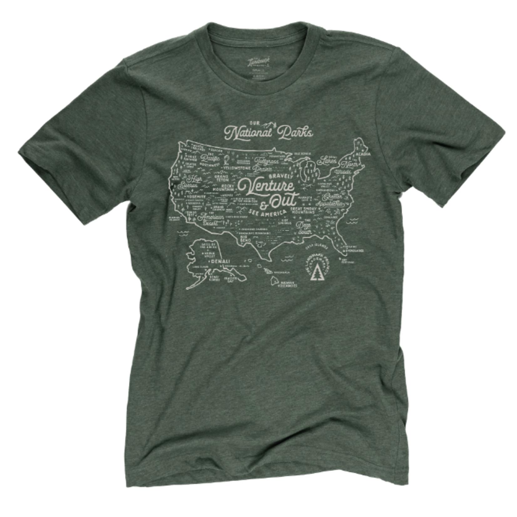 The Landmark Project The Landmark Project NPS Map T-Shirt