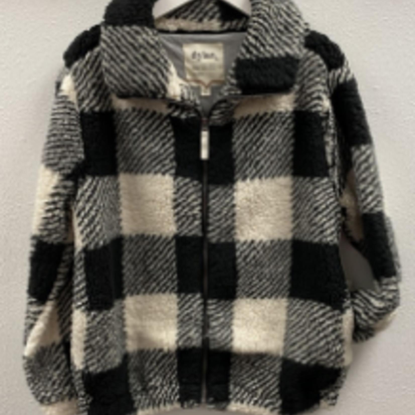 Dylan Dylan Sherpa Plaid Alden Zip Jacket