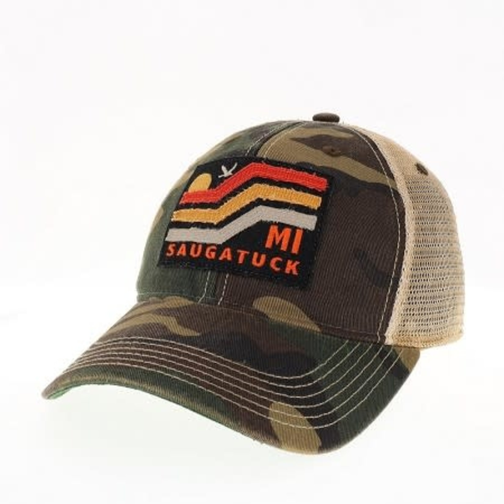 League League Legacy Old Favorite Youth Trucker Hat, Army Camo