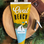 Yoho & Co Yoho & Co Felt Pennant Oval Beach