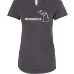 my great lake Michigan Awesome W's Michigangster T-shirt