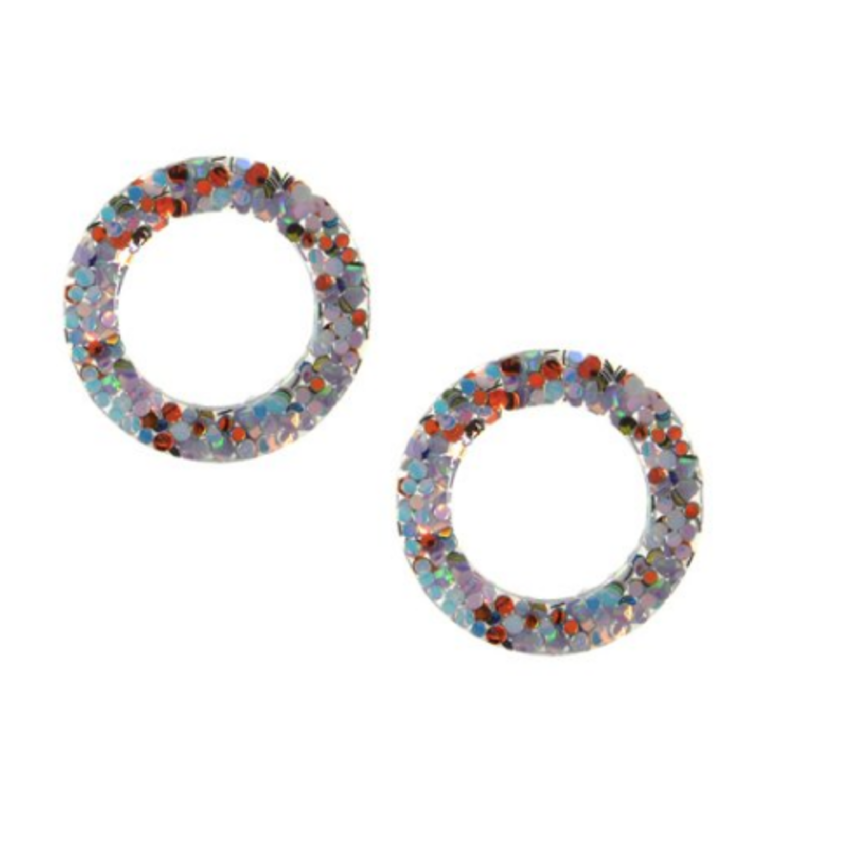 Joy Susan Joy Susan Blue Confetti Post Earrings