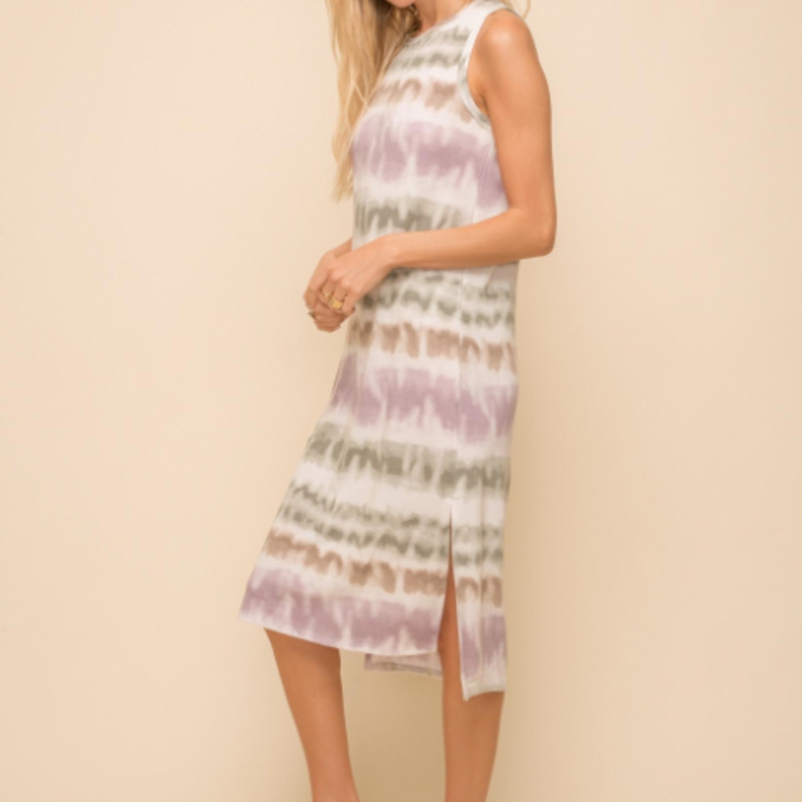 Hem & Thread Hem & Thread Split Hem Tie Dye Tank Dress