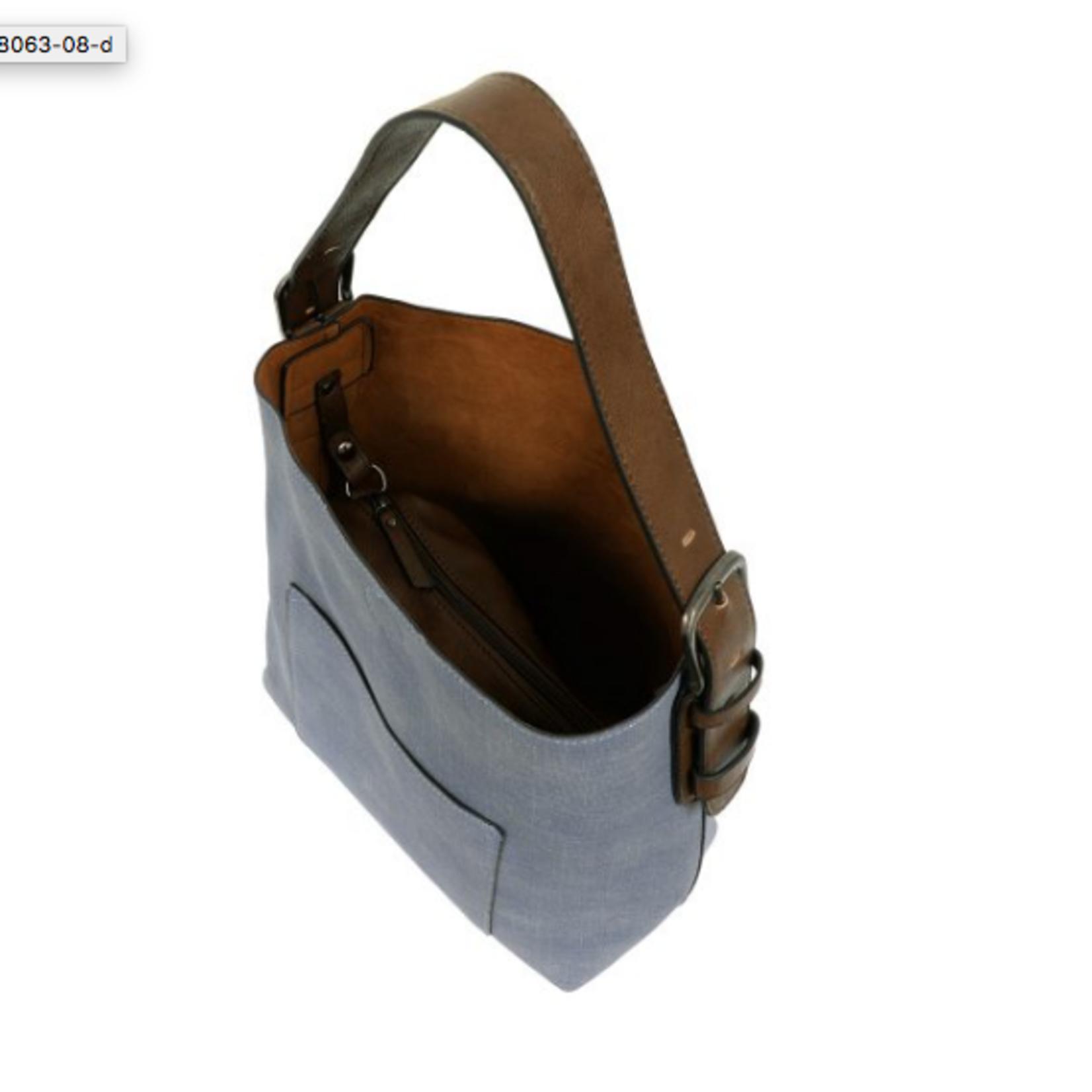 Joy Susan Joy Susan Linen Hobo Coffee Handle Handbag
