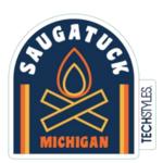 TechStyles TechStyles Saugatuck Mini Campfire Sticker