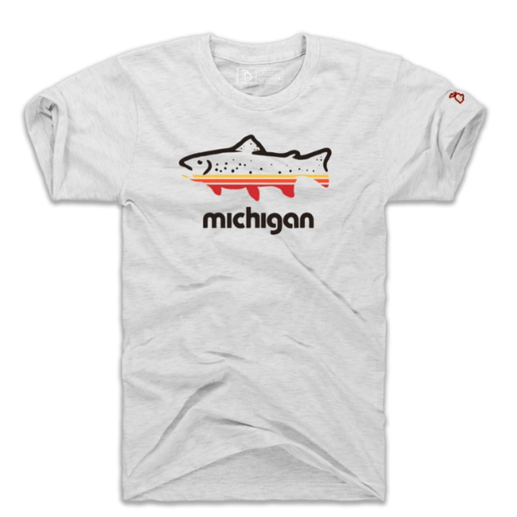 The Mitten State The Mitten State Fish Michigan SS
