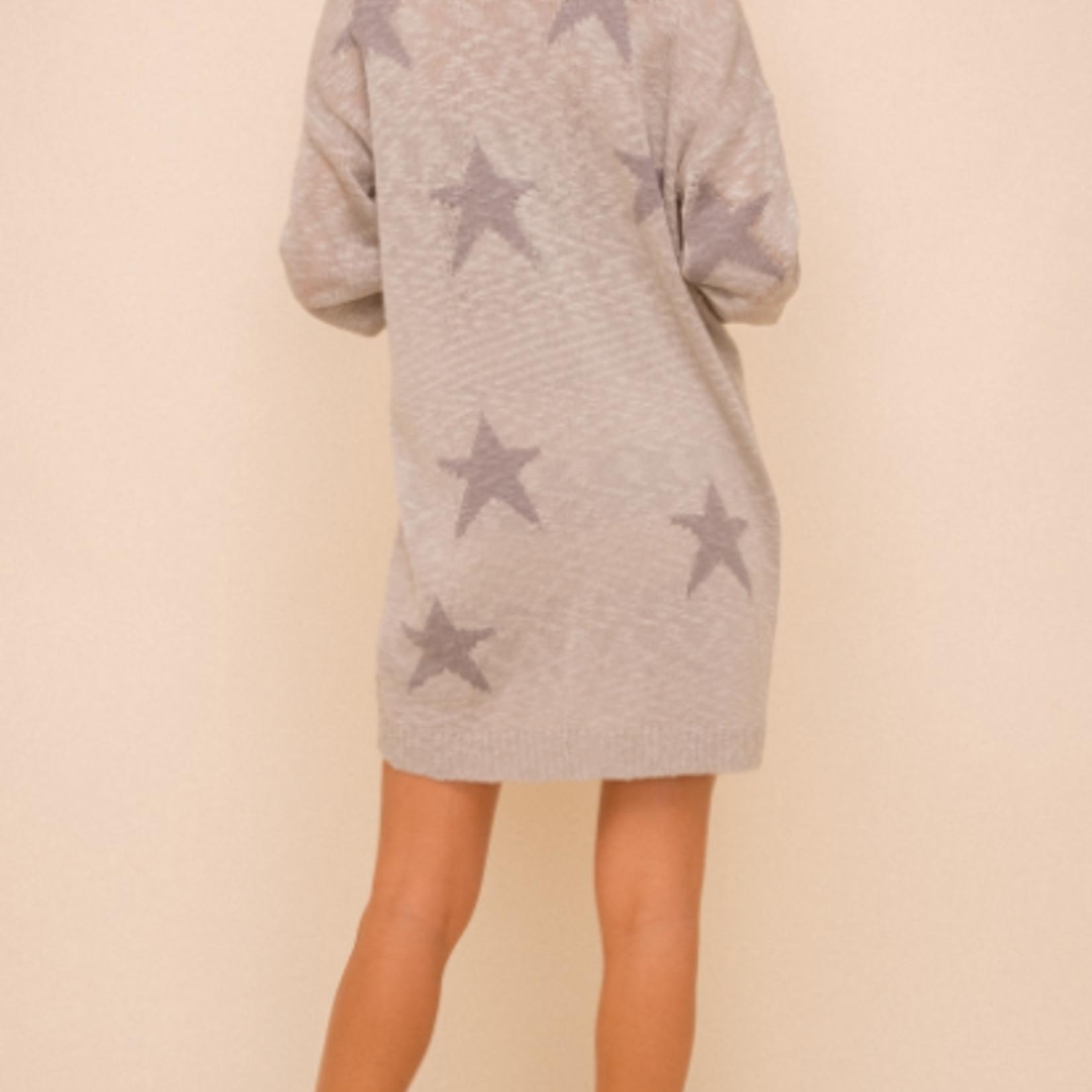 Hem & Thread Hem & Thread Star Sweater Cardigan