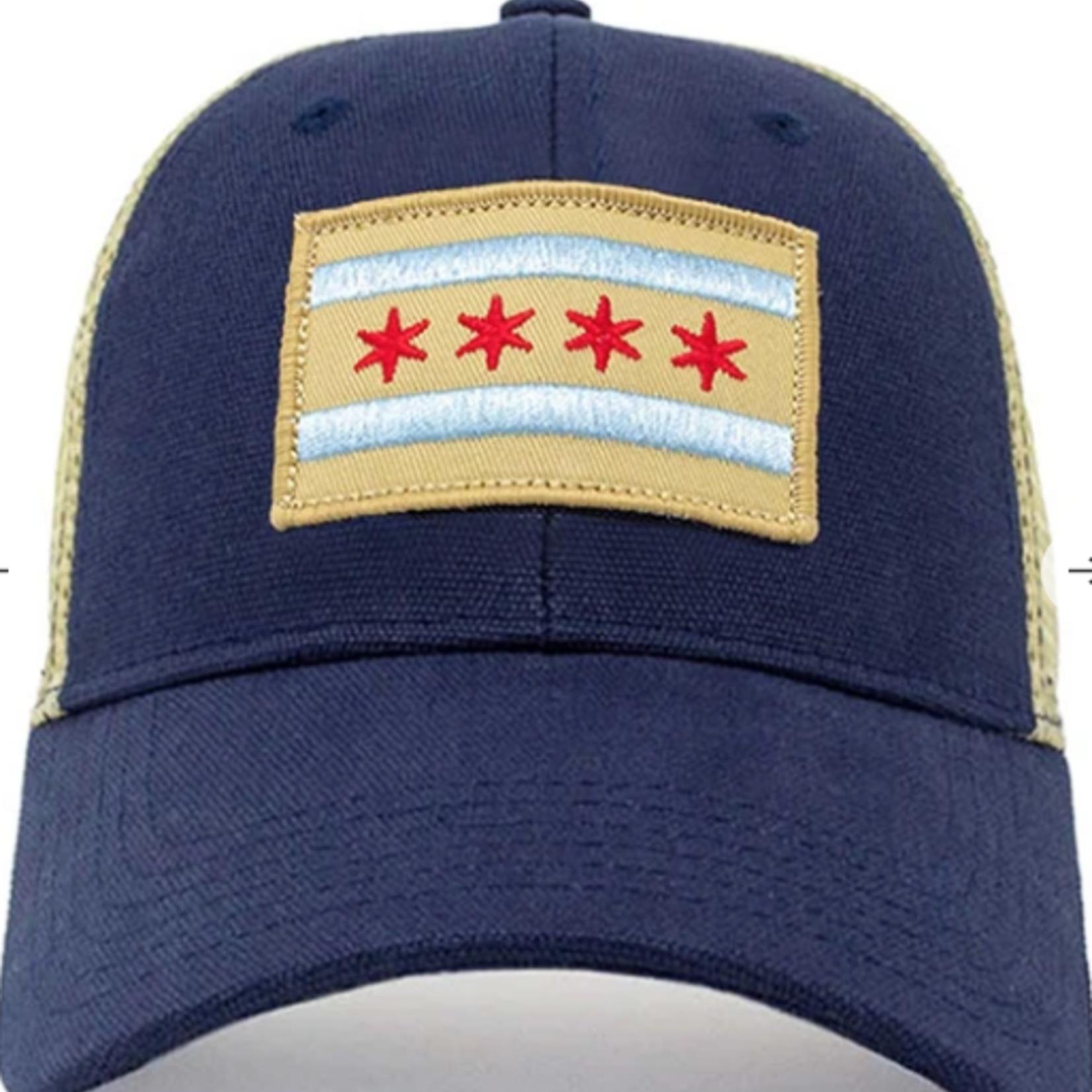 Civil Standard Chicago Mesh Snapback-Navy-O/S