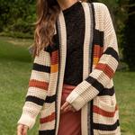 Hem & Thread Hem & Thread Stripe Sweater Cardigan