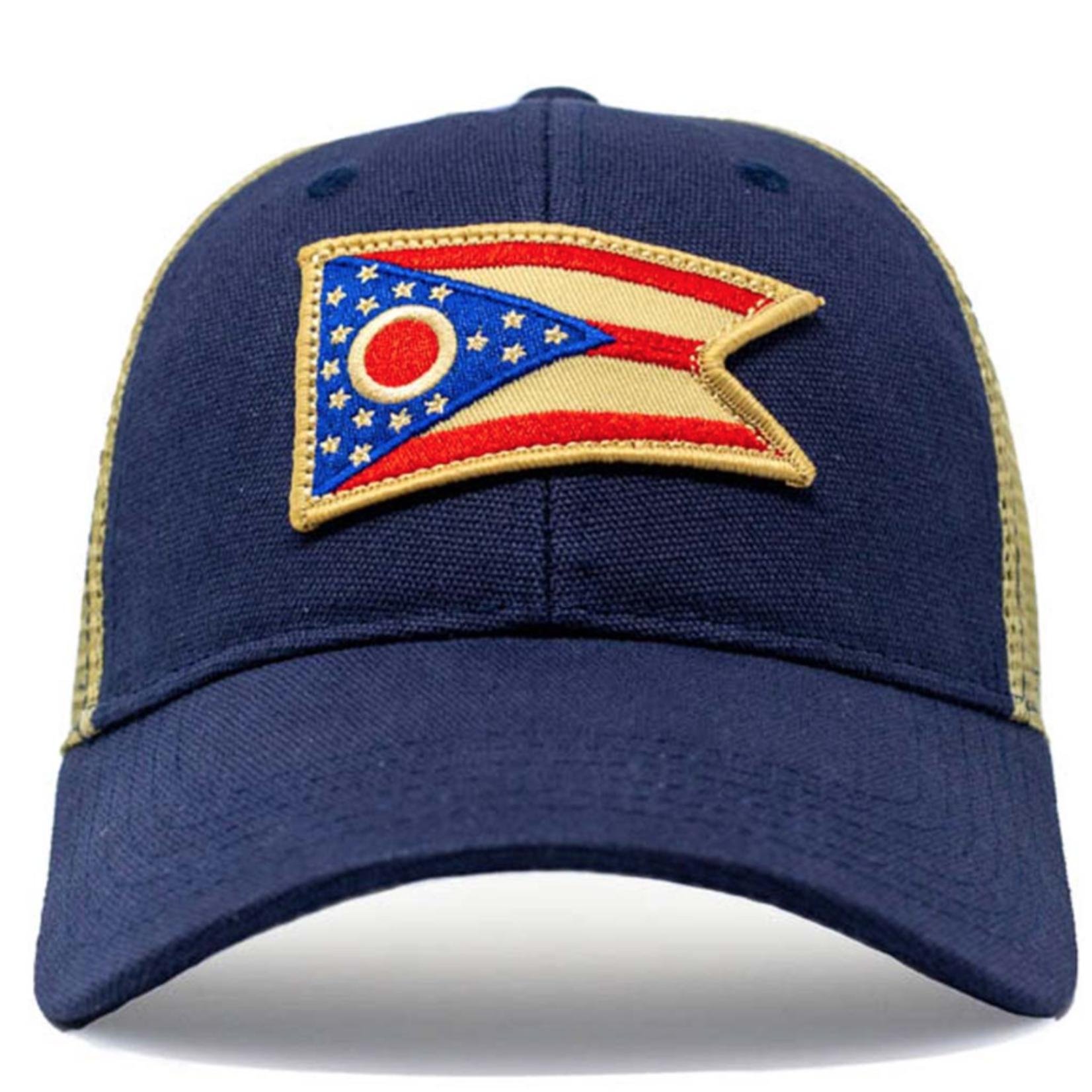 Civil Standard Ohio Flag Mesh Hat-Navy-O/S