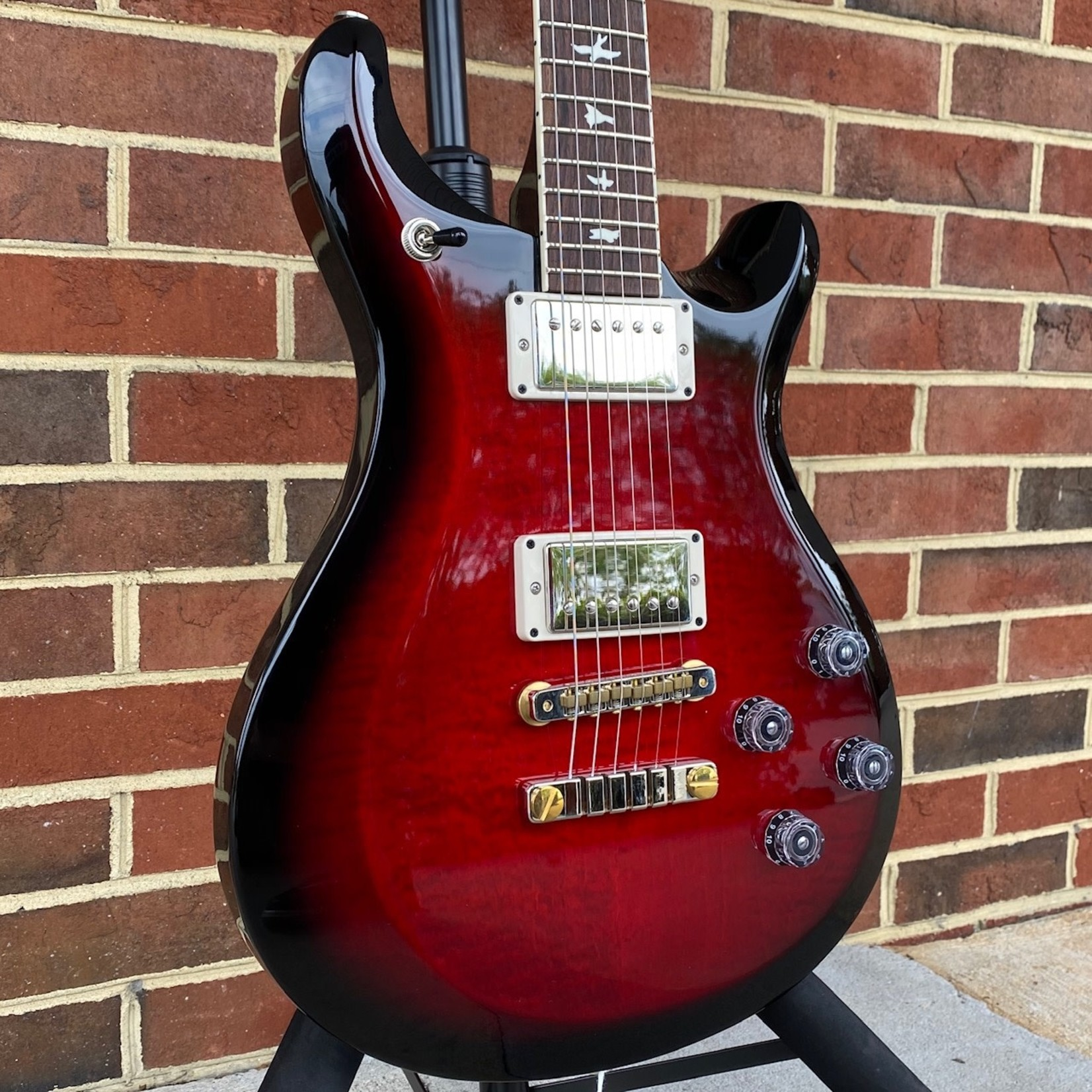 Paul Reed Smith Paul Reed Smith S2 McCarty 594, Custom Color - Scarlet Smokeburst, Pattern Vintage, Gig Bag