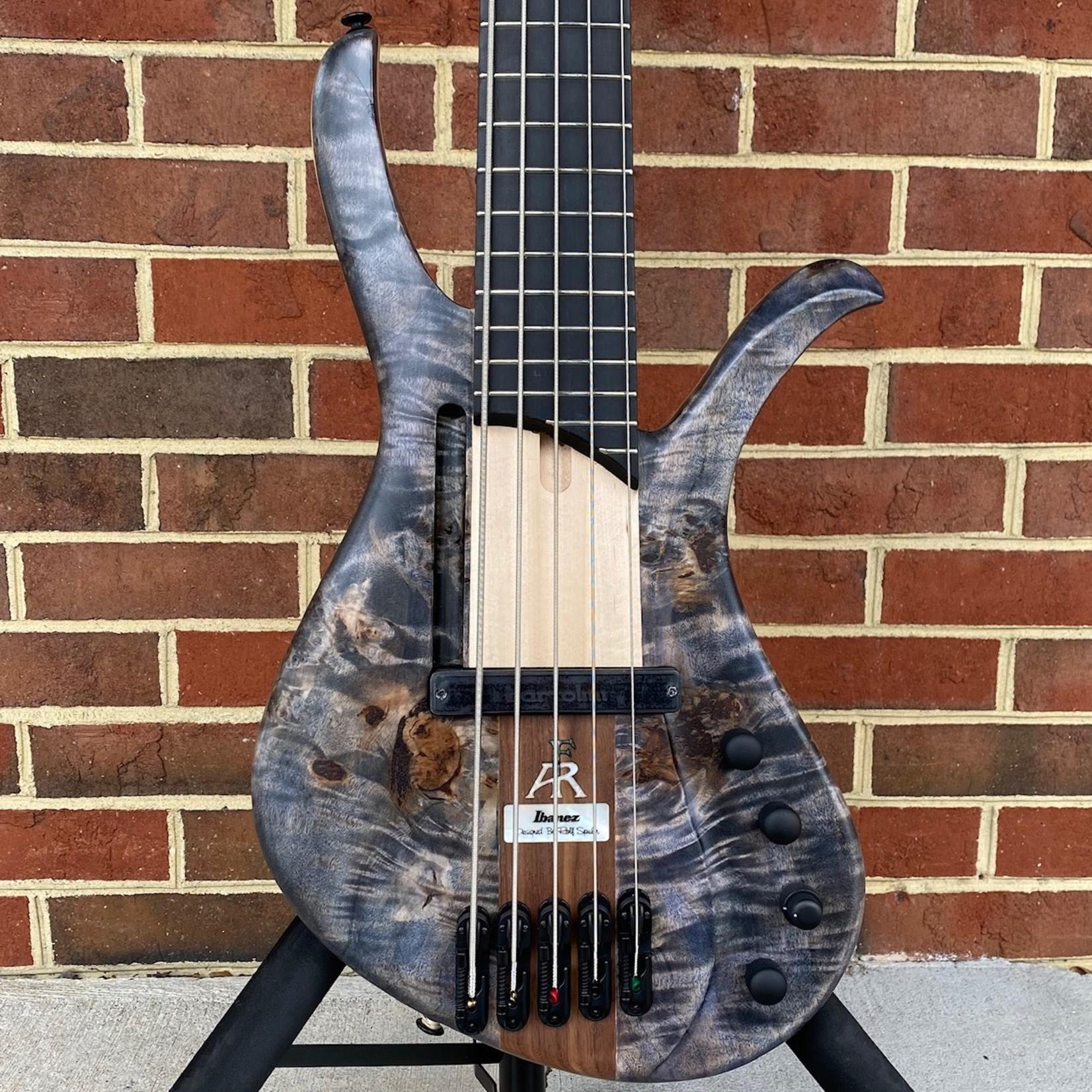 Ibanez Ibanez Bass Workshop AFR5PBPDTF, Deep Twilight Flat, Maple Body, Poplar Burl Top, Ebony FB, 1 Single Coil Pickup, Piezo System