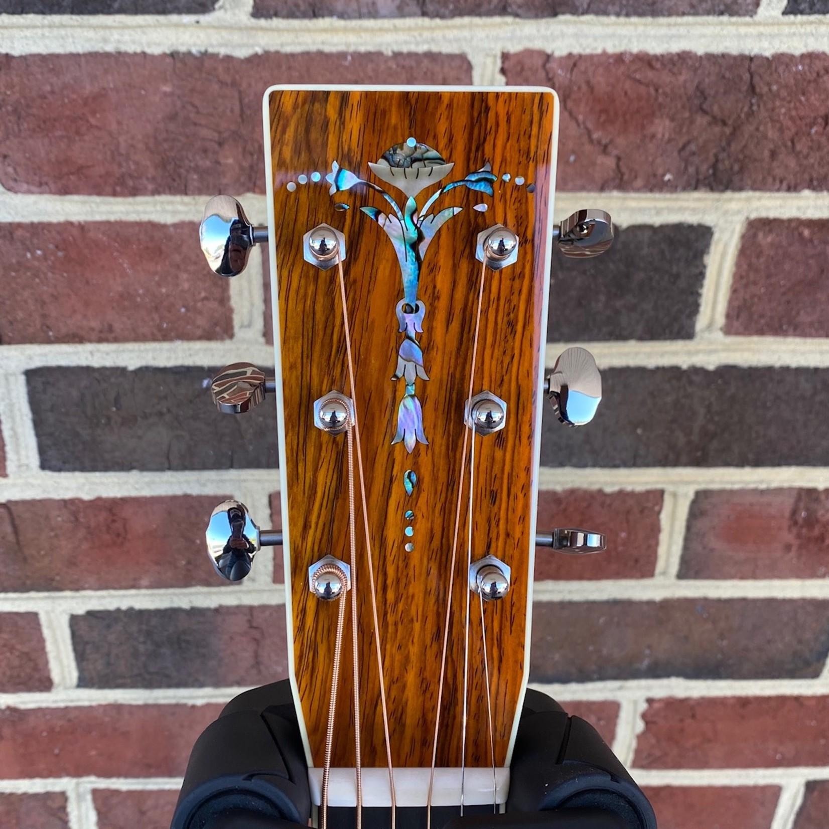 Santa Cruz Guitar Co. Santa Cruz Custom OM, Cocobolo Back and Sides, Sinker Redwood Top, Adirondack Bracing w/ Hot Hide Glue, Custom Cocobolo Peghead Overlay, Torch Headstock Inlay, SCGC Logo @ 12th Fret, Hardshell Case