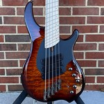 Dingwall Dingwall Combustion 5-String, 3x Pickups, Vintageburst, Quilted Maple Top, Swamp Ash Body, Maple Fretboard, Maple Neck, Dingwall Gig Bag, SN# 7437
