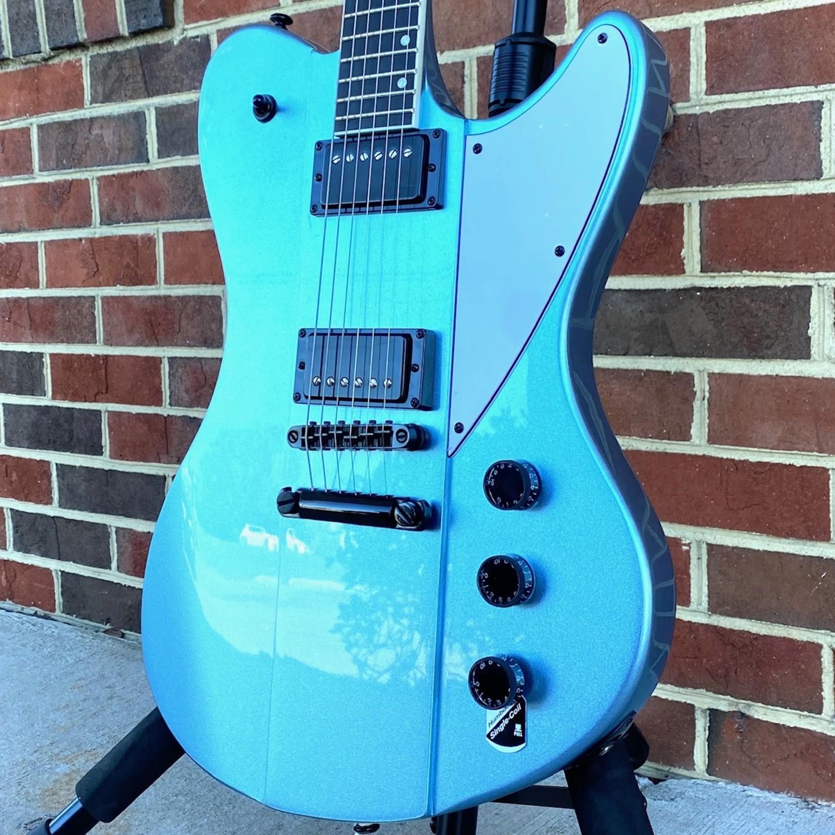 Schecter Guitar Research Schecter Ultra, Pelham Blue, Ebony FB, Grover Tuners, Schecter USA Sunset Strip Bridge Pickup, Schecter USA Pasadena Neck Pickup