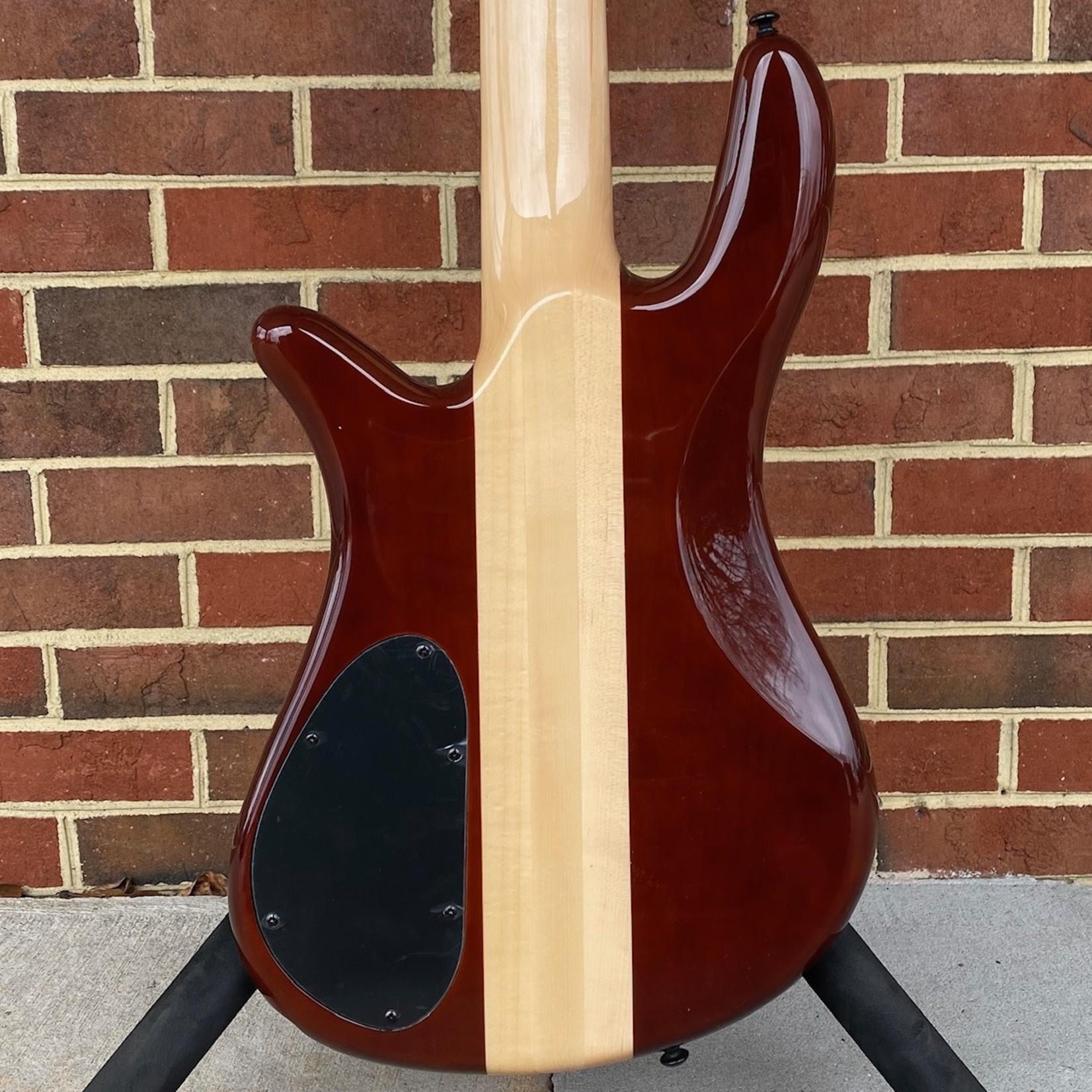 Spector Spector NS2000/5 Dan Briggs Signature Model, Poplar Burl Top, Maple Neck, Pau Ferro Fretboard, EMG Passive Humbuckers, Spector Tone Pump Jr.