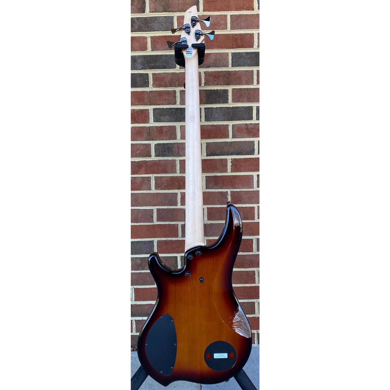 Dingwall Dingwall Combustion 4-String, 3x Pickups, Vintageburst, Quilted Maple Top, Pau Ferro Fretboard, Dingwall Gig Bag, SN# 8081