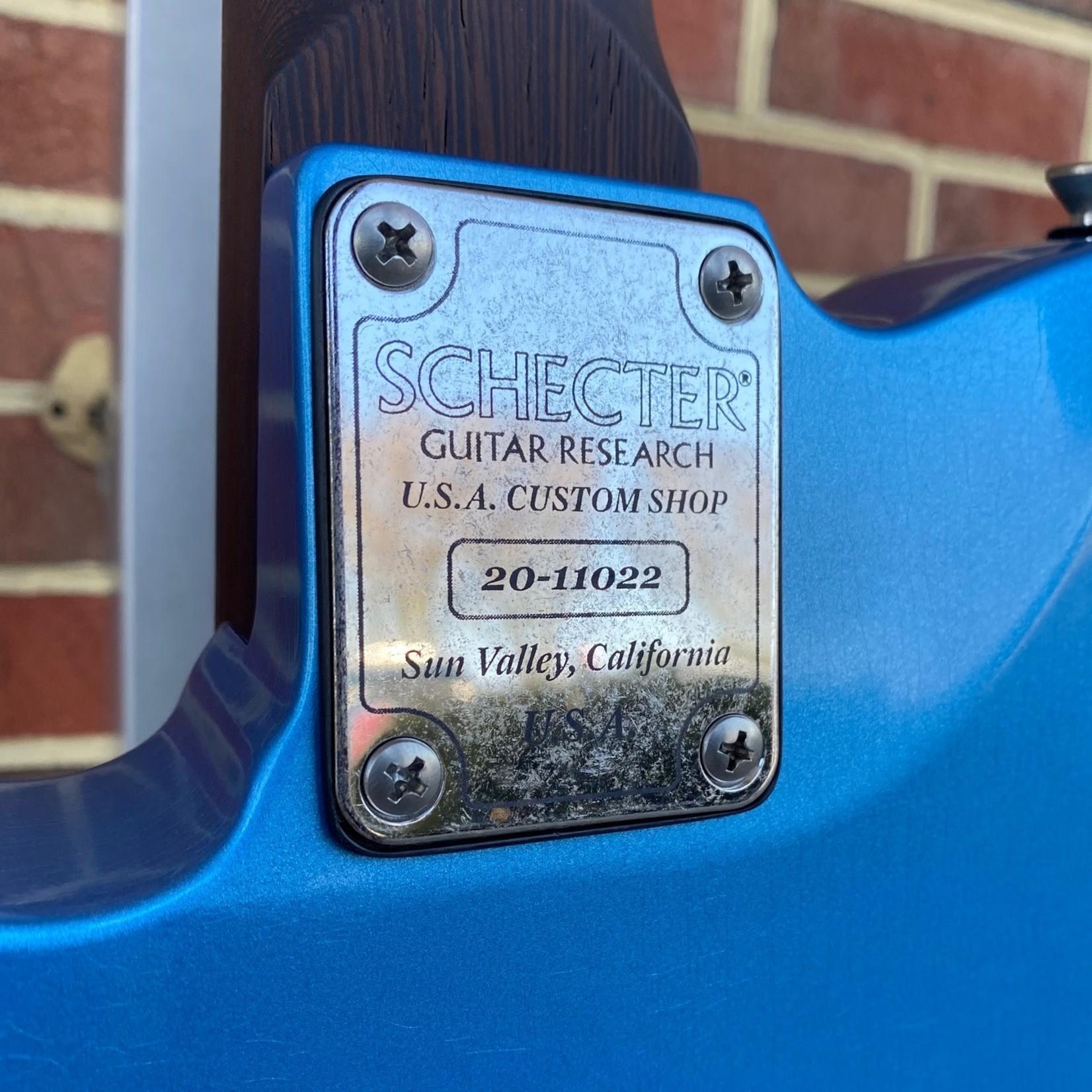 Schecter Guitar Research Schecter USA Custom Shop Nick Johnston PT, Lake Placid Blue Aged Nitro, Wenge Neck, Macassar Ebony, Alder Body, Aged Hardware, Hardshell Case