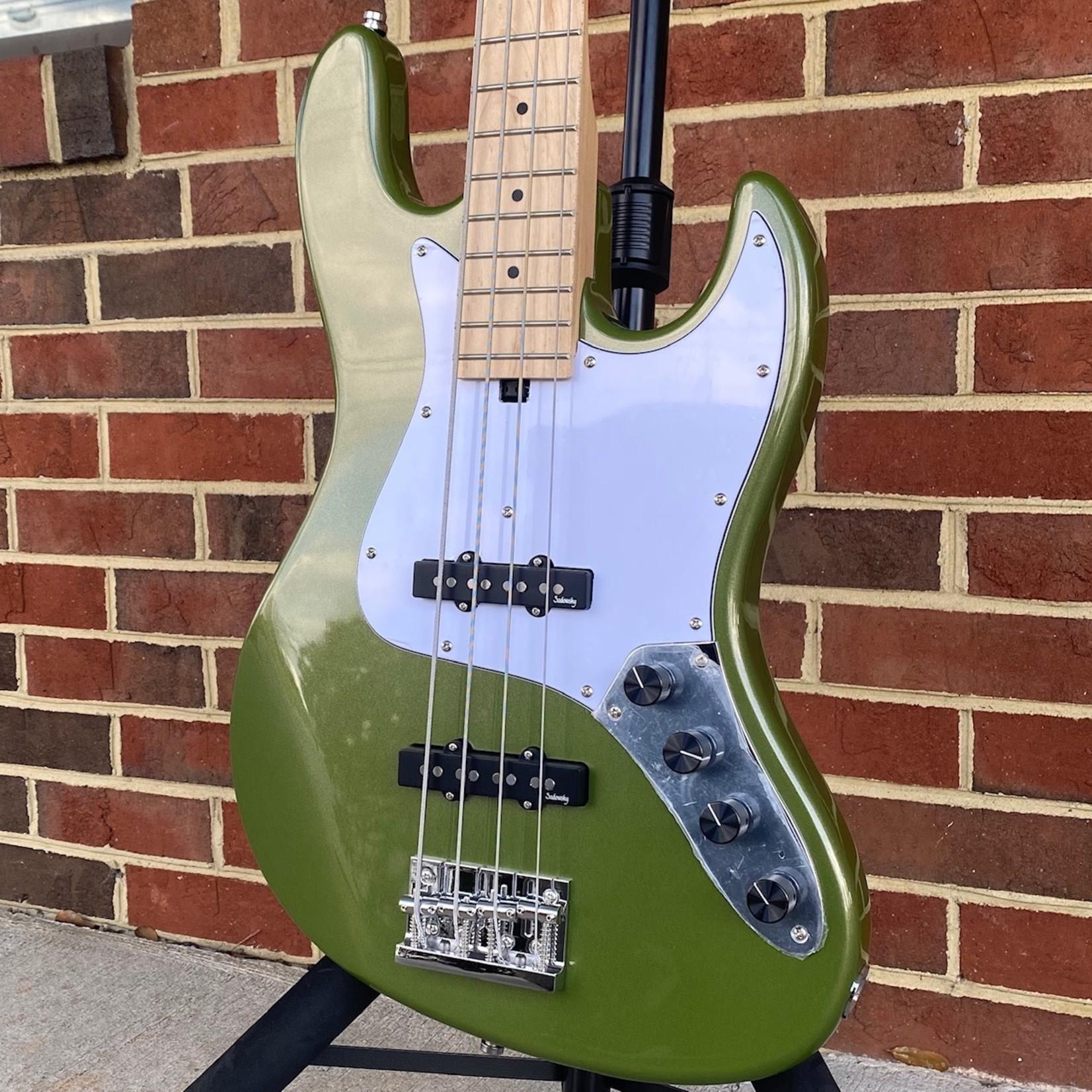 Sadowsky Sadowsky Metro Express 21-Fret Vintage J/J Bass, 4-String, Solid Sage Green Metallic, Maple Fretboard, Gig Bag