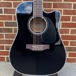 Takamine Takamine EF-381DX 12-String, Black, Hardshell Case