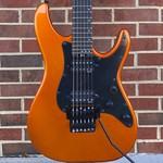 "Schecter Guitar Research Schecter Sun Valley Super Shredder, Lambo Orange, Floyd Rose Special ""Hot Rod"" Trem (Schecter Exclusive), EMG Retro Active Hot 70 pickups, Ebony FB"